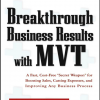 """Breakthrough Business Results with MVT: A Fast, Cost-Free, """"Secret Weapon"""" for Boosting Sales, Cutting Expenses, and Improving Any Business Process"""